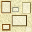 Vintage picture frame selection - Stock Photo