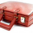 Vintage red leather bag — Stock Photo