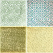 Collection of vintage wallpaper pattern - Stock Photo