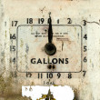 Old broken gas or petrol station dial — Stock Photo