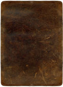 Brown scratched leather texture — Stock Photo