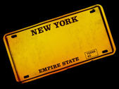Old Style New York Number Plate — Stock Photo