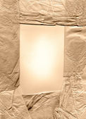 Old tissue paper frame — Stock Photo