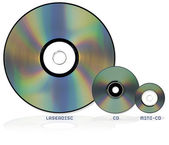 Selection of optical disc formats — Stock Photo