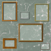 Vintage picture frame selection — Stock Photo