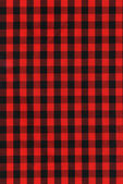 Red and black checkered fabric texture — Stock Photo
