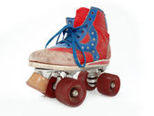 Vintage style old roller skate — Stock Photo