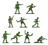 Collection of traditional toy soldiers — Stock Photo