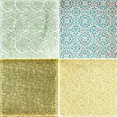 Collection of vintage wallpaper pattern — Stock Photo