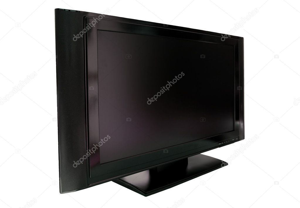 LCD or Plasma TV Cutout against white with clipping path — Stock Photo #2802406