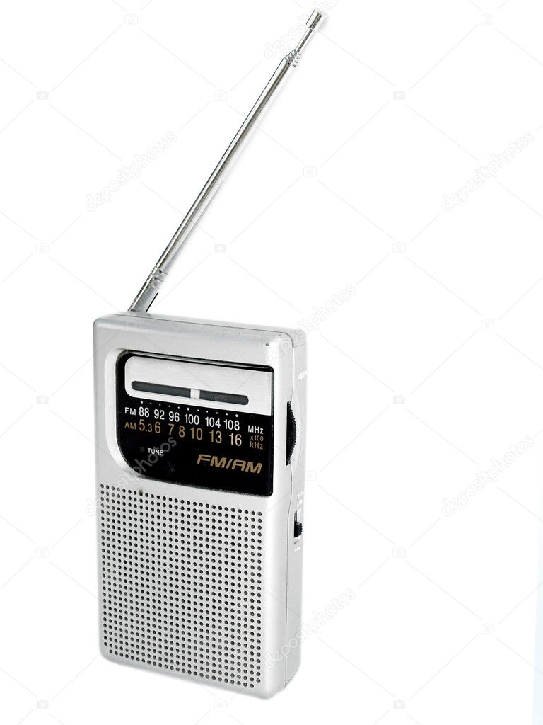 Old fashioned pocket radio against a white background — Stock Photo #2806291