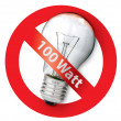 Bfor Old-style 100-watt light bulbs — Stock Photo #2979473