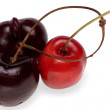 Sweet cherry black and red — Stock Photo