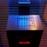 Modern cash dispense — Stock Photo