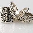 Stock Photo: Silver rings