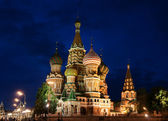 Night, Vasily Blazhennogo's church — Stock Photo