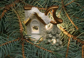 Christmas small house — Stock Photo
