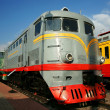 Stock Photo: Diesel engine - the locomotive