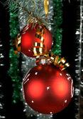 New Year's spheres — Stock Photo