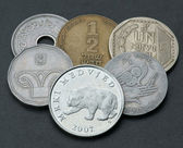 Rare coins of the different countries — Stock Photo