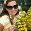 Stock Photo: Girl in spring colours