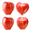 Red heart-shaped apple — Stock Photo