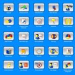 Web panel icons set — Stock Vector
