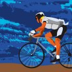 Постер, плакат: On bike