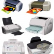 Variety of Printers — Stockvectorbeeld