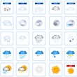 Weather icons — Stock Vector