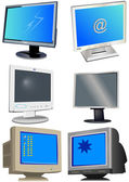Computer monitors — Stock Vector