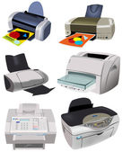 Variety of Printers — Stock Vector