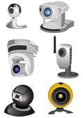 Computer cameras — Stock Vector