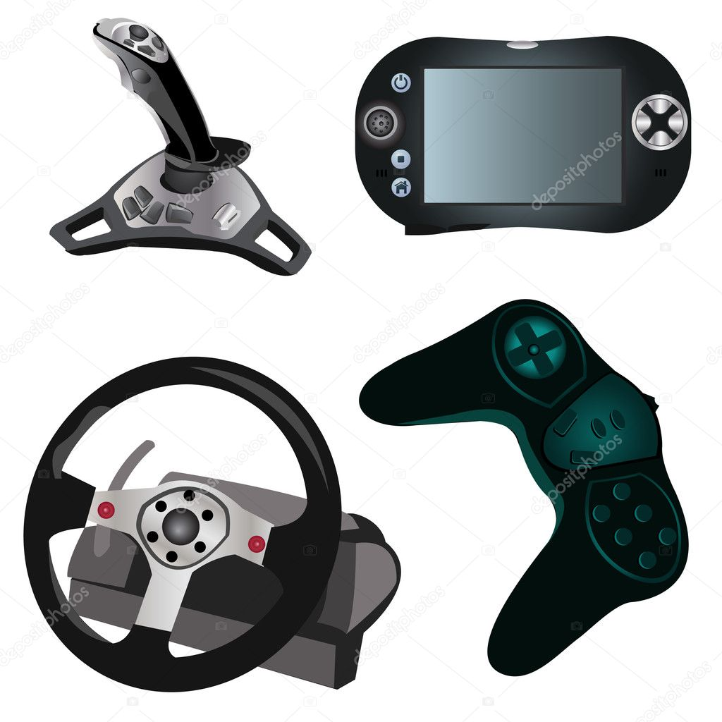 4 different video game devices. — Stock Vector #2838487