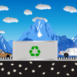 Recycling cars — Stock Vector