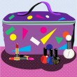 Stock Vector: Cosmetic bag