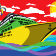 Royalty-Free Stock Vectorielle: Cruise ship