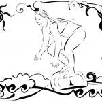������, ������: Surfer girl