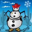 A real snowman - Stock Vector