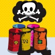 Toxic barrels - Stock Vector