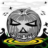 Scary pumpkin — Stock Vector