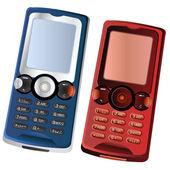 Two cellphones — Stock Vector