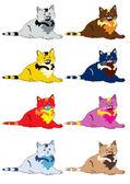 Cute cats — Stock Vector