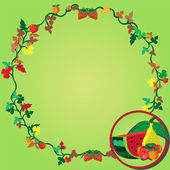 Fruit wreath — Stock Vector