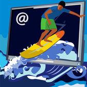 Web surfer — Stock Vector