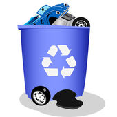 Recycle bin for cars — Stock Vector