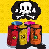 Toxic barrels — Stock Vector
