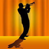 Trumpet player — Stock Vector