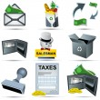 Accounting icons — Stock Vector