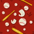 Royalty-Free Stock Vector Image: Baseball Seamless Pattern